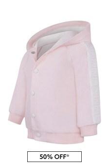 Baby Beige Cotton Bear Hood Cardigan