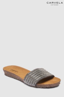 Carvela Comfort Suede Pewter Super Slider