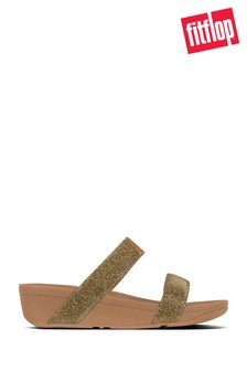 FitFlop™ Gold Lottie Slide Holiday Glitz Sandal