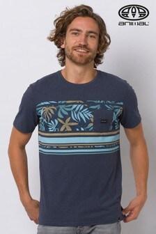 Animal Indigo Blue Marl Dinder Deluxe Pocket T-Shirt
