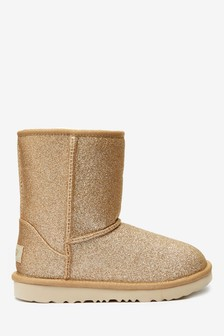 UGG® Kids Glitter Classic Short II Boots