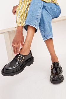 Chunky Sole Buckle Detail Shoes