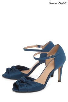 Phase Eight Peacock Bonnie Satin Knot Peep Toe Shoe