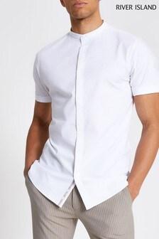 River Island Grandad Oxford Shirt