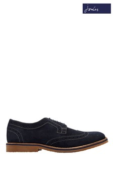 Joules Navy Keel Suede Brogue Shoe