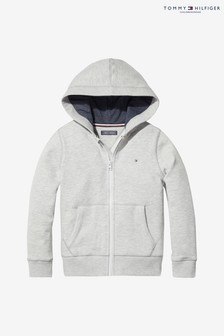 Tommy Hilfiger Grey Basic Full Zip Hoody