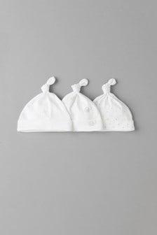 מארז שלישיית כובעים צבעוניים עם הדפס עניבה עדין (5-12 חודשים)