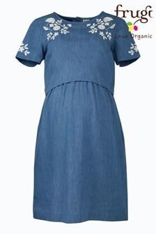 Frugi Organic Cotton Maternity/Breastfeeding Chambray Dress