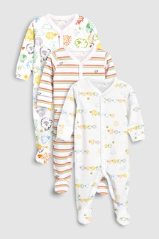 Sheep Character Sleepsuits Three Pack (0mths-2yrs)