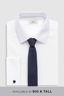 Shirt With Navy Tie Set