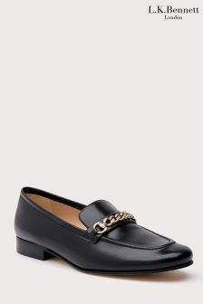 L.K.Bennett Black Stevie Flat Loafer