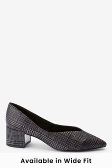 Point Block Heel Shoes