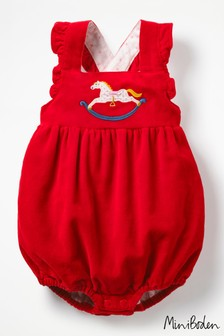 Boden Red Frilly Romper