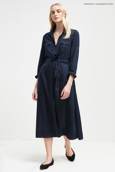 French Connection Blue Shirt Dress