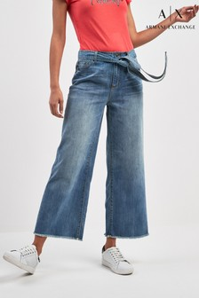 Armani Exchange Wide Leg Denim Jean