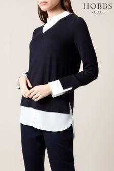 Hobbs Navy Macy Sweater