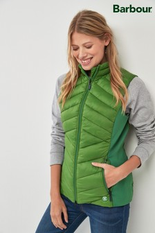 Barbour® Green Padded Pebble Gilet