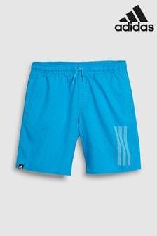 adidas Blue 3 Stripe Swim Short