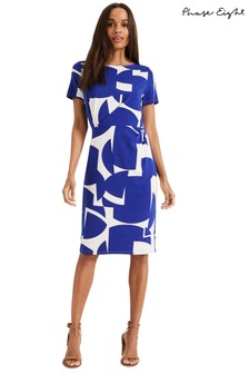 Phase Eight White Gretchen Graphic Circle Dress