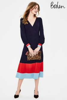 Boden Navy Magnolia Jersey Dress