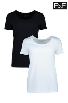 מארז שתי חולצות טי בייסיק צבעוניות של F&F