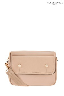 Accessorize Nude Una Utility Cross Body Bag