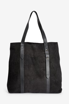 Embossed Suede Shopper