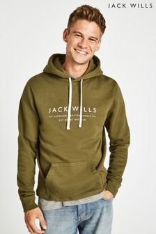Jack Wills Olive Batsford Wills Popover Hoody
