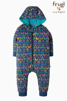 Frugi Blue Scandi Birds Snuggle Suit