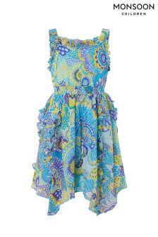 Monsoon Blue Tyla Frill Dress
