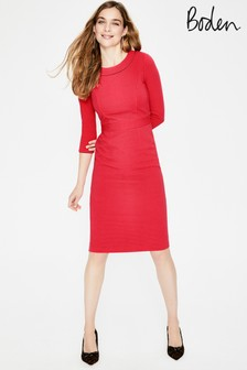 Boden Pink Mia Ottoman Dress