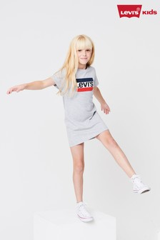 Levi's® Kids Grey Sports Logo T-Shirt Dress