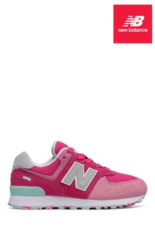 New Balance Pink 574 Younger Trainer
