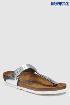 Birkenstock® Women's Metallic Silver Gizeh Sandal