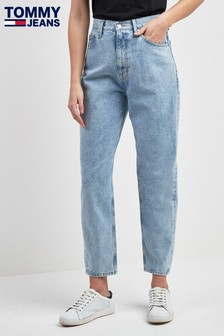 Tommy Jeans Blue High Rise Tapered Jean