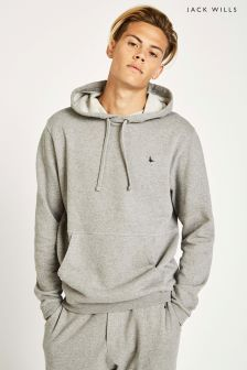 Sweat à capuche léger Jack Wills Woodfield gris chiné