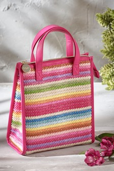 Woven Stripe Lunch Bag
