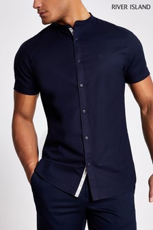 River Island Grandad Oxford Shirt