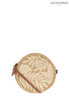 Accessorize Natural Leah Round Cross Body Bag