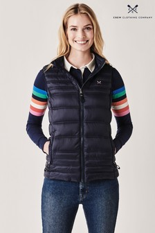 Crew Clothing Blue Quilted Lightweight Gilet