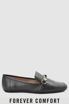 Forever Comfort Leather Hardware Loafers
