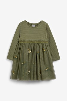 Embroidered Party Dress (3mths-7yrs)