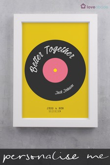 Personalised Vintage Record Print by Loveabode