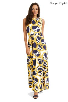 Phase Eight Multi Lurina Circle Print Maxi Dress