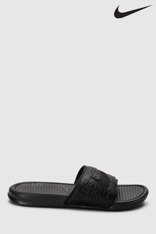 Nike Black Benassi JDI. Sliders