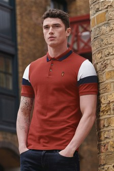 Block Sleeve Polo