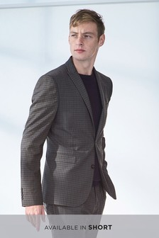 Skinny Fit Double Breasted Check Suit