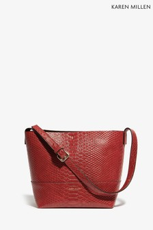 Karen Millen Red PU Snake Bag