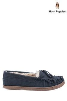 Hush Puppies Blue Addy Slip-On Slippers