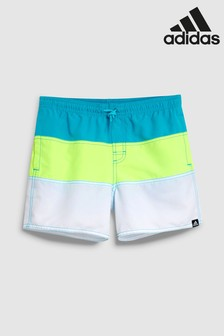 adidas Blue Colourblock Swim Short